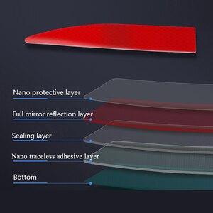 Image 3 - Samochodowe naklejki odblaskowe zewnętrzny pasek ostrzegawczy odblaskowa taśma bezśladowa ochronna naklejka samochodowa Trunk Body akcesoria samochodowe