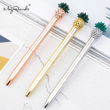 1.0mm Metal Ballpoint Pen Rose Gold New Strange Pineapple Stationery Gift Kawaii Optional School Office Supplies