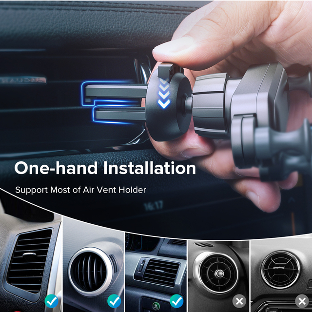 25.5mm New Gravity Car Holder Phone in Car Air Vent Clip Mount No Magnetic Mobile Phone Holder GPS Stand For iPhone XS X Xiaomi 2