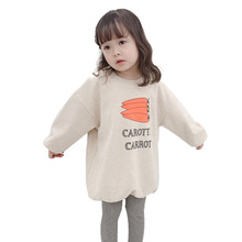 2019 Fashion Baby Girls Hoodies Fashion Long Sleeve Sweatshirts For Girls Letter Print Children Pullover Long Sweatshirt Tops недорого