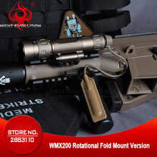 Nacht Evolution Taktische Taschenlampe WMX200 Rot IR Licht Gewehr Falten Montieren Jagd Lampe Gun Waffen Licht NE08036