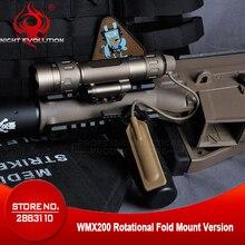 야간 진화 airsoftsports 전술 softair 무기 라이트 wmx200 회전 폴드 마운트 버전 arme gun light ne08036