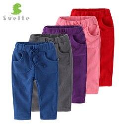 Svelte crianças meninos meninas calças casuais para a primavera outono unisex polar velo calças crianças esporte para 1-4y