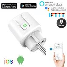 Mini Standard 10A/16A EU Smart Wifi Stecker mit Power Monitor Steckdose Funktioniert mit Google Hause, alexa, IFTTT Voice Control