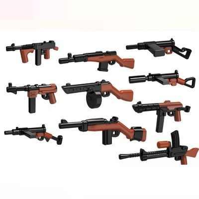 II Guerra mundial AK Arma Armas armas de fogo Blocos Brinquedos Educativos Original Swat Polícia Militar Modelo Acessórios Mini figuras Da Cidade