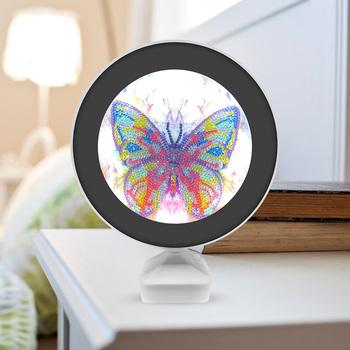 Majsterkowanie malowanie diamentowe motyl lampka nocna o specjalnym kształcie haftu tanie i dobre opinie CN (pochodzenie)