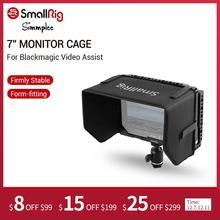 """SmallRig monitör kafesi Sun hood Blackmagic tasarım Video yardımı 7 """"monitörleri ile HDMI kelepçe + topu kafa setleri 1988"""