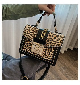Fashion Leopard Messenger Bags for Women Brand Decoration Ladies Party Handbags Purses Luxury Leather Small Shoulder Hand Bag(China)