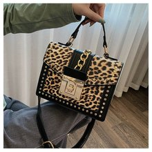Fashion Leopard Messenger Bags for Women Brand Decoration Ladies Party Handbags