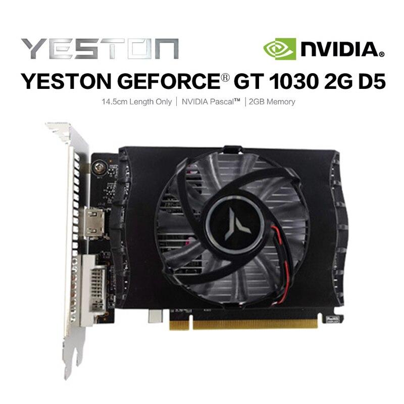 New Yeston Gtx1030 2g D5 Tc Graphic Card 1228 1468mhz 2g 64bit Gddr5 Gaming Graphics Card With Dvi D Hdmi Best Price 8113b Cicig