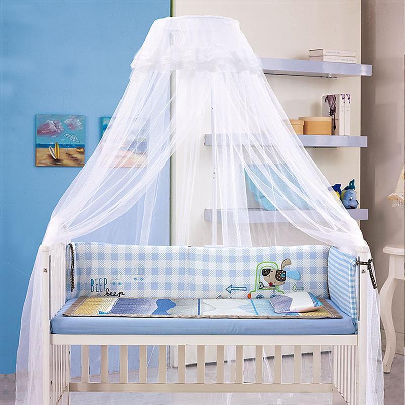 de color blanco Foxnovo Dosel con mosquitera para cama infantil