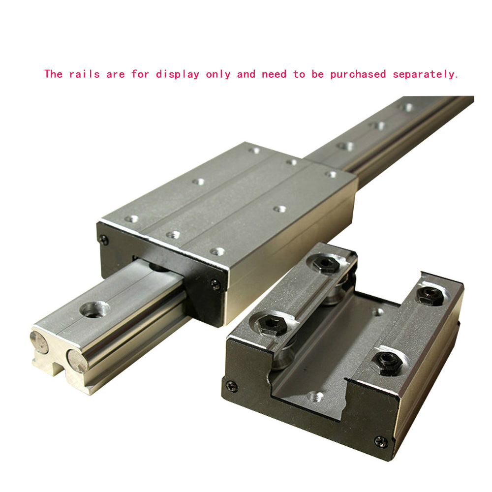 1 PCS High-speed External Dual-axis Linear Guide Slider LGB6-60L4 wheel~LGB16-190L6 Round(Does not include Guide Rail)