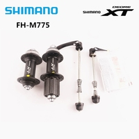 shimano Deore XT FH M775 Hub MTB Bike Cube Center Lock Disc Rotor 32H 8/9 Speed Hub With Quick Release Skewer 32H One Pair M775