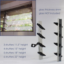 3 жалюзи пара Жалюзи На Окна алюминиевая стеклянная рамка