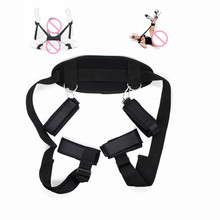 Womens Sexy Lingerie BDSM Bondage Sex Handcuffs Leg Open Restraints Neck Handcuffs Ankle Cuff Straps Erotic Costume Sex Products недорого