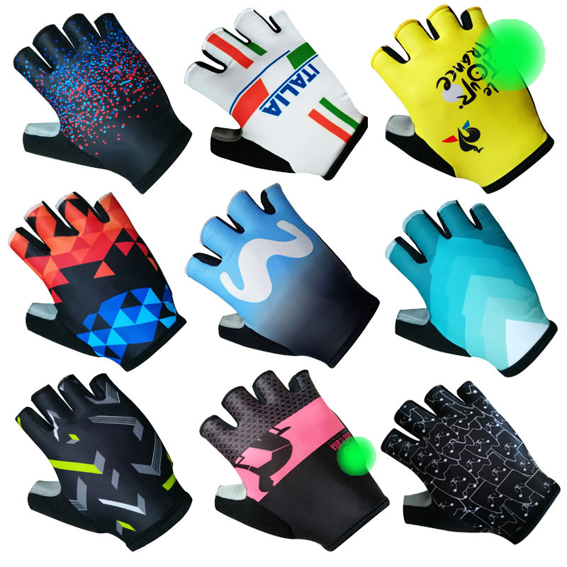 Half Finger ITALIA Cycling Gloves Mens Women Summer Sports Shockproof Bike Gloves Anti Slip MTB Bicycle Glove Guantes Ciclismo