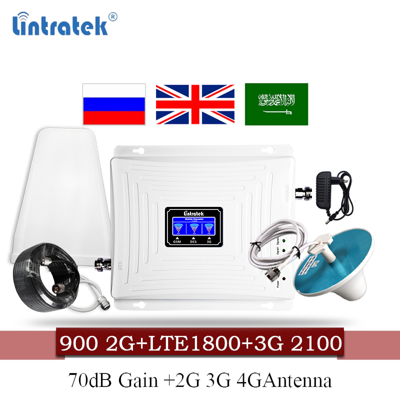 Mobile Signal Booster 4G United Kingdom 900 1800 2100 GSM Amplifier Mobile Repeater DCS WCDMA 2G 3G 4G LTE Signal Repeater 60