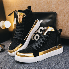Shoes Men Skateboard Shoes High Top Lace-up Sport Shoes Breathable Casual Shoes Outdoor Walking Footwear Zapatillas Hombre men casual shoes lace up mens trainers flat walking shoes breathable sport zapatillas hombre basket femme light soft brand shoe