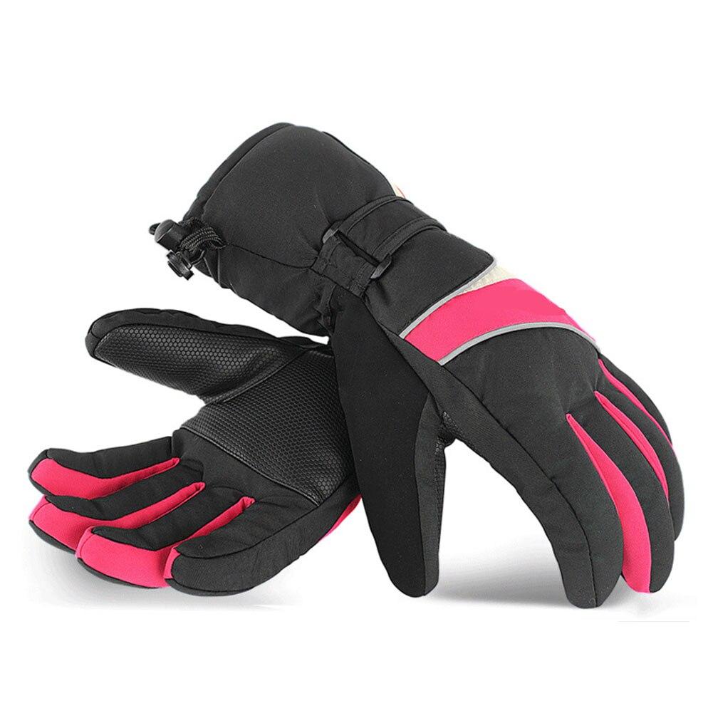 1 paire USB Rechargeable hiver adultes alimenté par batterie électrique chauffé chaud gants de ski imperméable sport anti-dérapant protection