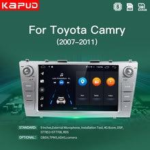 Автомобильный радиоприемник Kapud, 9 дюймов, Android 10,0, 4G, стерео, мультимедийный плеер для Toyota Camry 2007, 2008, 2009, 2010, 2011, BT, GPS-навигация, Wi-Fi, SWC