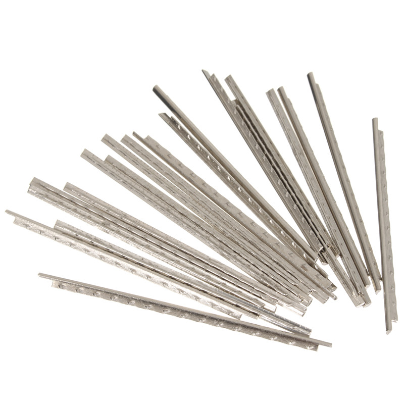 Silver 24pcs 60mm Guitar Fret Wire Nickel Gauge / Fretwire Tool For Guitar Ukulele Musical Instruments Parts Accessories