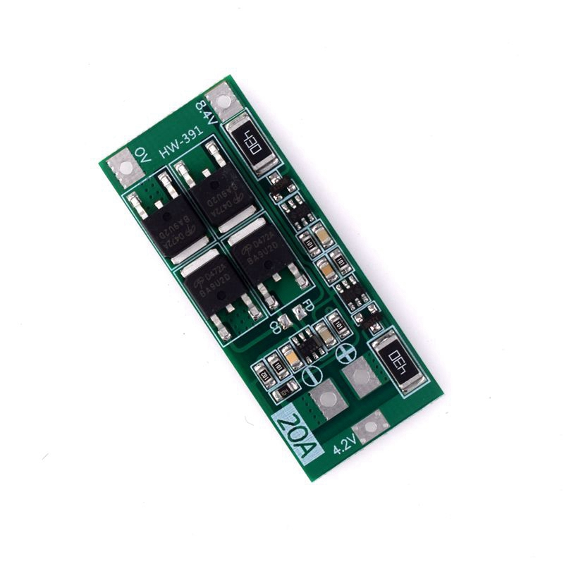 <font><b>2S</b></font> <font><b>20A</b></font> 7.4V 8.4V Li-Ion Lithium Battery 18650 Charger Pcb <font><b>Bms</b></font> Protection Board image