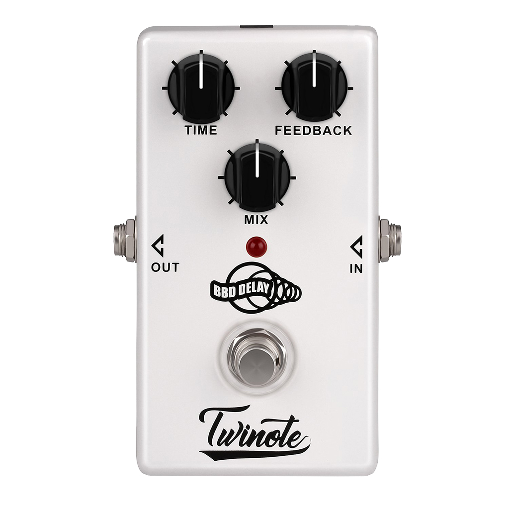Twinote BBD Analog Delay Effects Pedal Electric Guitar Effect Processor Tube Sound Distortion Fuzz Effects Pedal image