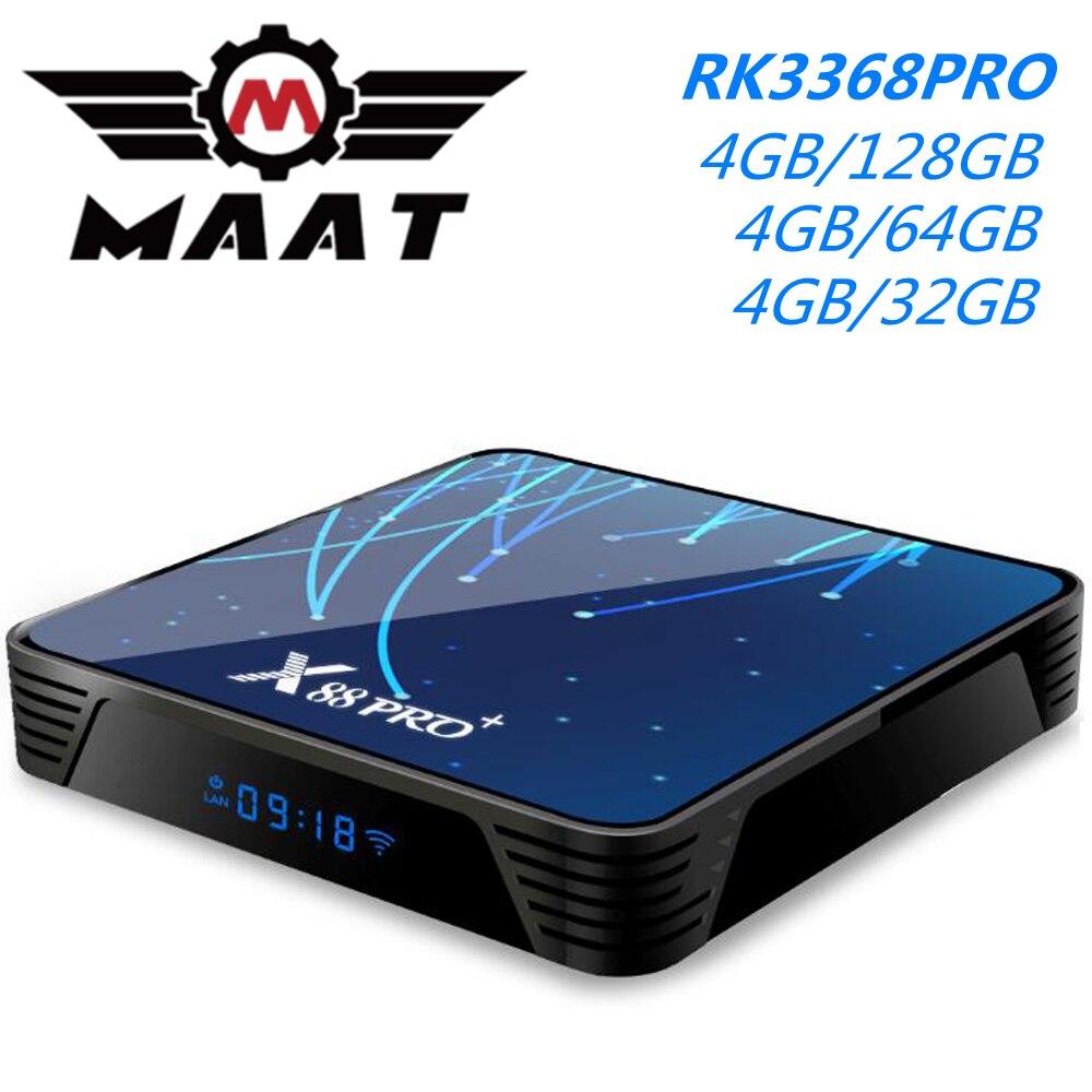 MAAT Android 9.0 Smart TV Box 4GB DDR3 128GB 64GB X88 PRO Plus Octa Core RK3368 PRO 5G Wifi BT 4.0 H.265 4K Media Player X88PRO+(China)