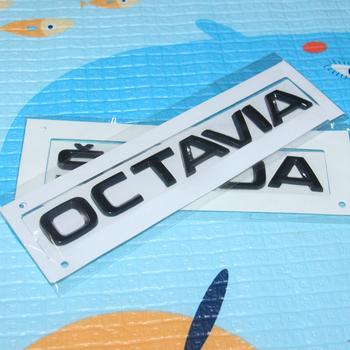 2 sztuk partia Glosse czarny OCTAVIA naklejki naklejki bagażnika dla Skoda OCTAVIA SUPERB KODIAQ KAMIQ szybkie YETI FABIA SKODA naklejki OCTAVIA tanie i dobre opinie Na bagażnik Do naklejania Words Kreatywne naklejki W opakowaniu Car Trunk Sticker for SKODA Car Stickers Car Rear Side Sticker for SKODA
