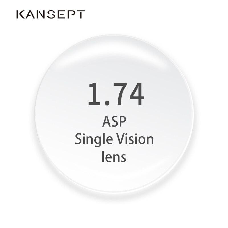 KANSEPT 1.74 Index Prescription lunettes myopie marque lentille lunettes claires dur résistant aux rayures asphériques lentilles optiques