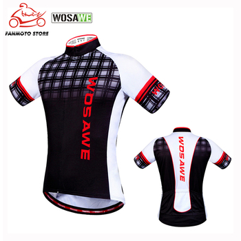 WOSAWE Summer Breathable Cycling Motorcycles Clothing Racing Bike Bicycle Motorbike Clothes Wear Short Sleeve Cycling Jersey недорого