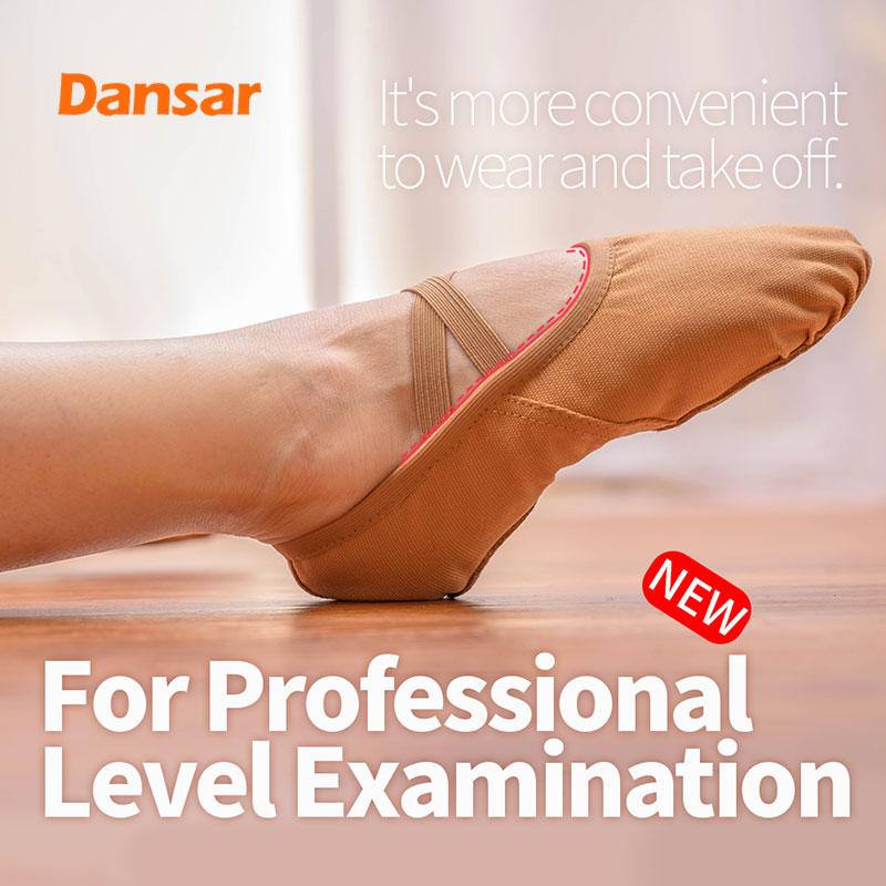 Ballet Dance Shoes For Girls Women Children Men Boys,Black Canvas Leather Soft Sole Yoga Gym Flat Slippers, Salsa Dance Shoes