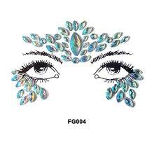 Acrylic Crystal Face Sticker Resin Diamond Eyebrow Eye Adhesive Drill DIY Phone Case Party Festival Jewelry