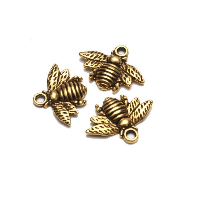 Meibeads 10 قطعة/الوحدة 21 مللي متر نحل العسل العتيقة الذهب اللون النحل charms المعلقات ل عقد دي اي واي مجوهرات اكسسوارات WF672