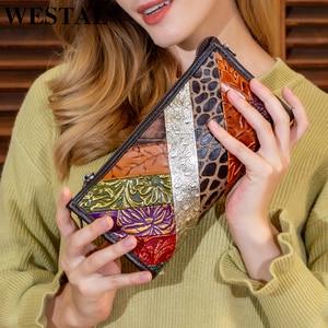 Женский кошелек WESTAL/женский клатч из натуральной кожи, винтажные женские кошельки, кошелек для женщин, держатель для монет, сумки для денег