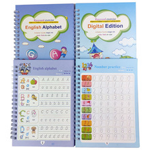 2 Pieces/Set of Magic Copybooks, Reusable Children's Calligraphy, English Exercise Book, Lettering Groove Painting Picture Book