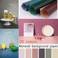 Morandi цветной двухсторонний фон для фотосъемки ткань чистый цвет фоновая бумага ins ветер красный декор реквизит для фотосъемки