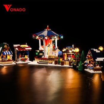 Led Light Compatible For Lego 10235 Christmas Winter Village Market 36010 Building Blocks Bricks Toys (only light+Battery box)