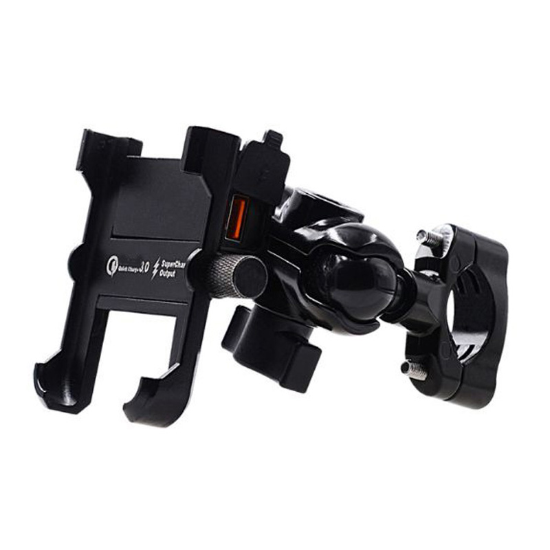 Aluminum Alloy Motorcycle Phone Holder Accessories Fast Charger Handlebar