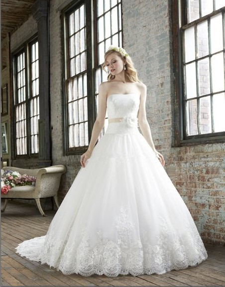 Vestido De Noiva Ball Bridal Gown Drop Waist Bodice Lace Detachable Ribbon Sash Optional Lace 2018 Mother Of The Bride Dresses