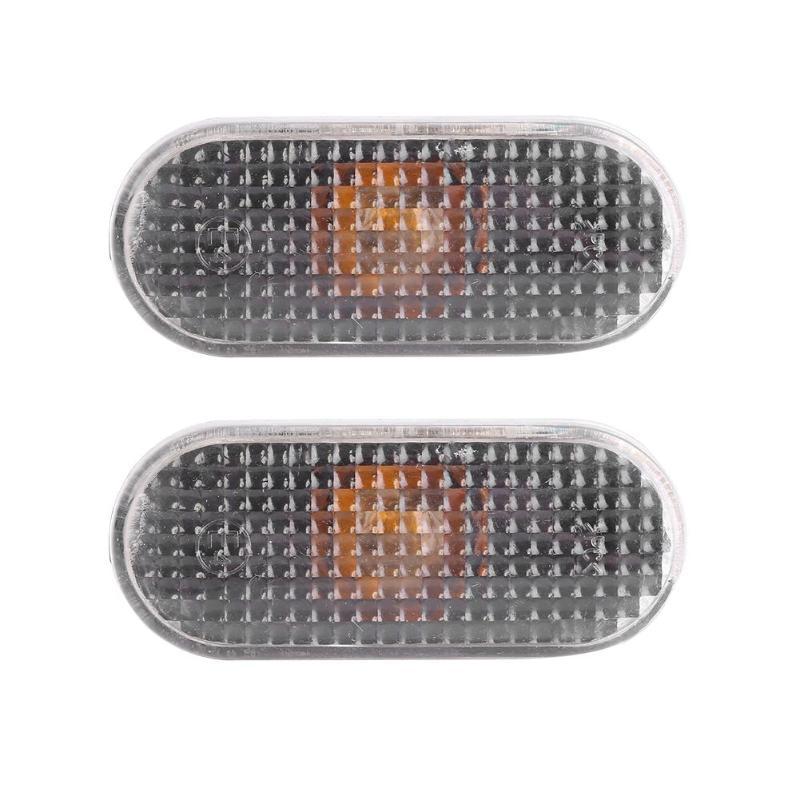 1Pair Side Marker Lights Smoked Lens Fender Repeaters Indicators with Bulbs for Golf/Jetta/Bora MK4 1999-2004 Passat B5/B5.5