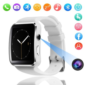 цена на X6 Smart Watch with Camera Touch Screen Support SIM TF Card Bluetooth Smartwatch for IOS Phone Android Phone