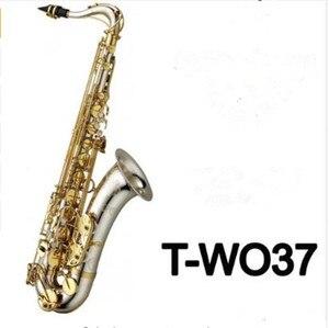 Музыкальные инструменты, тенор, саксофон Bb Tone, никелевый, посеребренный, трубка, золотой ключ, Sax, чехол, перчатки для мундштука