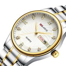 Top Brand Luxury Men Watch Week Calendar Business Classic Waterproof Luminous Quartz Wrist Watches Male Day Date Clock