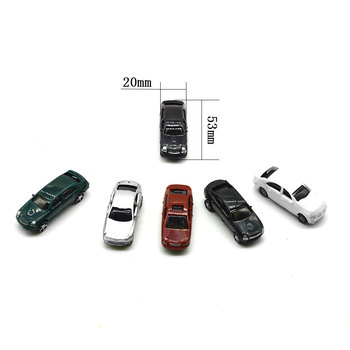 Miniature Scale Model Car Toys 1:100 ABS Plastic Tiny Car For Diorama Model Architecture Road Scenery Layout Kits недорого