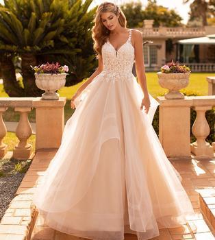 Precioso vestido de novia nuevo línea de forma de a 2020 con...