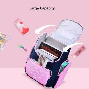 Image 5 - OKKID children school bags for girls cute waterproof animal backpack schoolbag kids pink book bag elementary school backpack