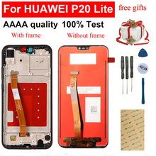 5.84'' For HUAWEI P20 Lite LCD Display ANE-LX1 ANE-LX3 For Huawei Nova 3e LCD Touch Screen Digitizer Sensor Panel Glass Assembly(China)