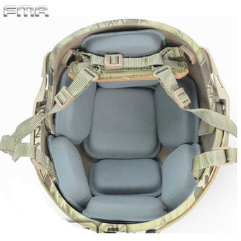 цена на FMA Tactical Protective Pad For CP Helmet Replacement Suspension Pads Set Soft Cushion Pad Airsoft Hunting Helmet Accessories