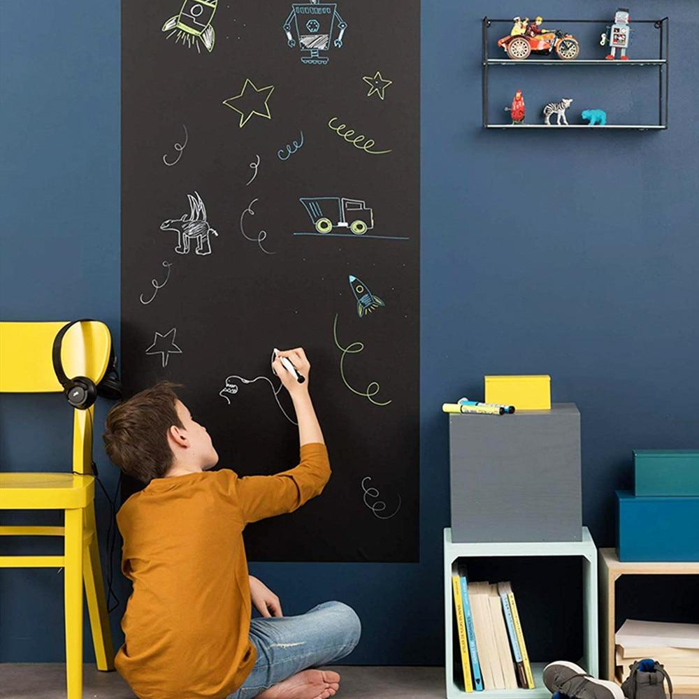 200x45cm segure ímãs quadro negro removível adesivo de parede quadro crianças aprendendo graffiti pintura mensagem blackboard brinquedo - 3